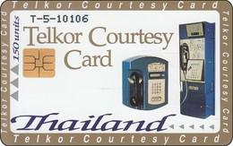 Thailand Test Chip Phonecard Telkor Courtesy - Nice Lady And Thai Mask - Thailand