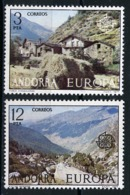 Andorre Espagnol - Andorra 1977 Y&T N°100 à 101 - Michel N°107 à 108 *** - EUROPA - Andorra Española
