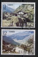Andorre Espagnol - Andorra 1977 Y&T N°100 à 101 - Michel N°107 à 108 (o) - EUROPA - Andorra Española