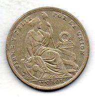 PERU, 1 Sol, Silver, Year 1924, KM #218.1 - Peru
