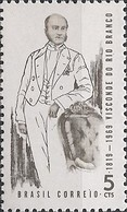 BRAZIL - 150th BIRTH ANNIVERSARY OF JOSÉ MARIA PARANHOS (1819-1880), VISCOUNT OF RIO BRANCO AND STATESMAN 1969 - MNH - Factories & Industries