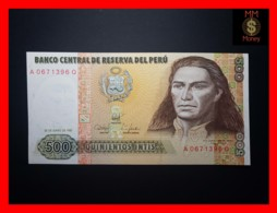 PERU 500 Intis 26.6.1987  P. 134 B  UNC - Perù