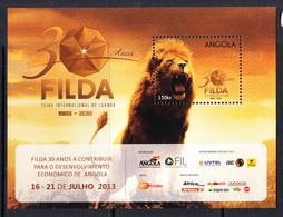 2013 Angola Filda Lion Complete Souvenir Sheet MNH - Angola
