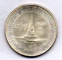 PERU, 400 Soles, Silver, Year 1976, KM #270 - Peru