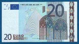 EURO - ITALIA - 2002 - BANCONOTA DA 20 EURO DRAGHI SERIE S (J029A1) - NON CIRCOLATA (FDS-UNC) - IN OTTIME CONDIZIONI. - 20 Euro