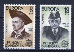 Andorre Espagnol - Andorra 1980 Y&T N°124 à 125 - Michel N°131 à 132 *** - EUROPA - Andorra Española
