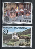 Andorre Espagnol - Andorra 1981 Y&T N°131 à 132 - Michel N°138 à 139 *** - EUROPA - Andorra Española