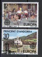 Andorre Espagnol - Andorra 1981 Y&T N°131 à 132 - Michel N°138 à 139 (o) - EUROPA - Andorra Española
