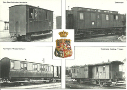 Denmark   Card With Four Old Railway Wagons, Unused - Denmark