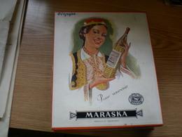 Old Cardboard Box Yugoslavia Maraska  Trade Mark Zadar Pour Souvenir 16.5x20x4.5 Cm - Boxes