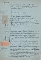 VIEUX PAPIER  - SIGNIFICATION 1920 - FISCAUX DIMENSION  - COPIES PERFORE JV - LHOTTE LESPAGNOL - France