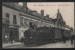 18 - VIERZON - Place De La Gare - Tramway De L'Indre - Vierzon