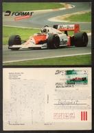 Special Postmark Alfa Romeo Formula One McLaren Porsche Marlboro Alain Prost Rosberg Postcard 1986 HUNGARY Hungaroring - Automovilismo