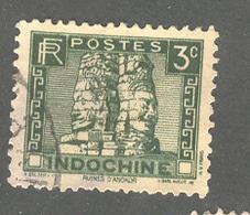 INDO-CHINA 1934 Scott No(s). 151; Angkor Thom; Used - Stamps