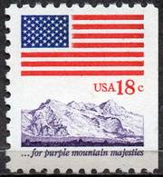 USA 1981 18¢ Flag And Mountains - United States