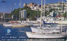 Télécarte JAPON / 110-011 - PORTUGAL - Port De  PORTO - Bateau Ship Harbour Haven - JAPAN Phonecard - 02 - Boats