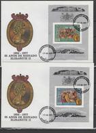Guinea-Bissau 1977 Queen Elizabeth II Silver Jubilee Set Of 6 S/s On 6 FDC -scarce- - Case Reali