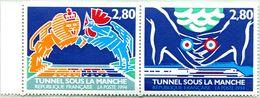 N° Yvert & Tellier 2880 Et 2881 (Se Tenant) - Timbres De France ** (Neuf) - (1994) - Inauguration Tunnel Sous La Manche - Ungebraucht
