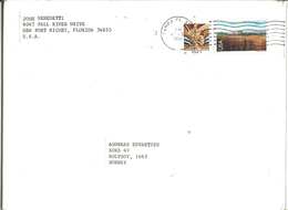 USA  2006  Cover With Two Stamps  - Mi 3442 And 3731 Cancelled Tampa Fl Apr 10 2006 - United States