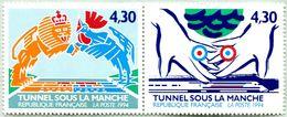 N° Yvert & Tellier 2882 Et 2883 (Se Tenant) - Timbres De France ** (Neuf) - (1994) - Inauguration Tunnel Sous La Manche - Ungebraucht