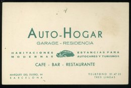 Barcelona Auto Hogar Tarjeta De Visita Garage Residencia   8x12cm - Visiting Cards