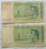 1 Konvertibilna Marka, Bosne I Hercegovine, Bosnie Herzegovine. 2 Exemplaires Abimés - Bosnia Erzegovina