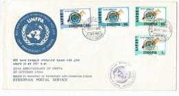 Ethiopia Ethiopie Mi.1509-12 SG1616-19 Complete Set UNFPA On FDC 1994 - Etiopía