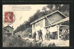 Pierre-la-Treiche, Buvette Et Gare, Chemin Des Grottes De Sainte-Reine - Otros Municipios