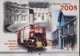 CALENDRIER 2008 SAPEUR POMPIER DE DIJON - Calendars