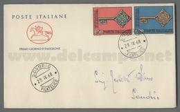 C7083 Italia FDC 1968 EUROPA CEPT EUROPA 68 2 VALORI CAVALLINO - F.D.C.