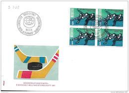 "74 - 28 - Enveloppe Suisse Avec Oblit Spéciale ""Champ Du Monde Hockey 1971 Bern"" - Jockey (sobre Hielo)"