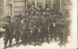 CARTE PHOTO ANCIENNE - MILITAIRES - GROUPE - 1906 - PHOTOGRAPHE BELLEVILLE PARIS - Militaria