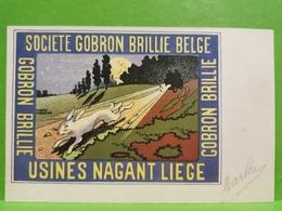CPA, Usines Nagant Liège. Société Gobron Brillie Belge. Oblitéré 1904 - Liege