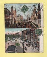 Woonsocket - Lot De 2 Cartes Postales Destination France - 1908 - Vereinigte Staaten