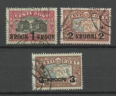 Estonia Estland 1930 Michel 87 - 89 O - Estonie