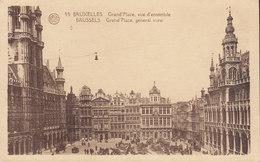 Belgium CPA Bruxelles Brussels Grand Place Vue D'ensemble General View BRUXELLES 1924 COPENHAGEN Denmark (2 Scans) - Squares
