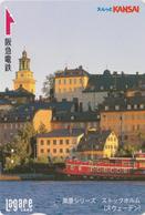 Carte Prépayée JAPON - SUEDE - STOCKHOLM - BATEAU SHIP - JAPAN Prepaid Lagare Card - Zweden