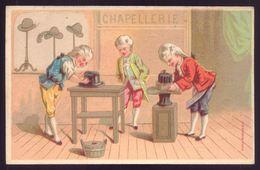 Cartão Publicidade LOJA MODAS - Rua Aurea 269 LISBOA Portugal. Old Victorian Trade Card CHROMO Chapellerie 1880s - Trade Cards