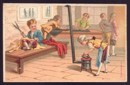 Cartão Publicidade LOJA MODAS - Rua Aurea 269 LISBOA Portugal. Old Victorian Trade Card CHROMO Tailor 1880s - Trade Cards