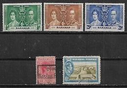 1937-42 Bahamas Reyes-fuerte Charlotte 5v. - Bahamas (1973-...)