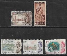 1946-52 Bahamas Reyes-paisajes-peces 5v. - Bahamas (1973-...)
