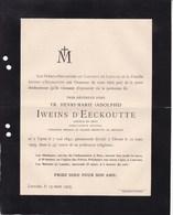 YPRES IEPER DINANT Henri IWEINS D'EECKHOUTTE Prédicateur Général 1840-1905 Frère-précheur Du Couvent De Louvain - Obituary Notices