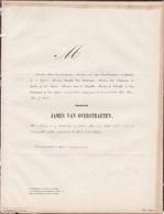 LOUVAIN James VAN OVERSTRAETEN 1823-1856 Paris Famille De L'ESCAILLE - Obituary Notices