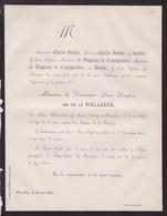 SAINT-JOSSE Madame De Le VIELLEUZE Veuve DEUDON Louis 79 Ans 1862 Famille De FOUERAUX De CAMPIGNEULLES - Obituary Notices