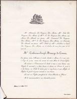 MONS Catherine MESUAGE De CARUIN épouse De COQUEAU Des MOTTES  77 Ans 1851 - Obituary Notices