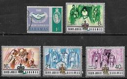 1965-77 Bahamas Año Cooperacion-visita Real 5v. Nuevos - Bahamas (1973-...)