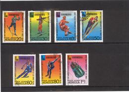 MONGOLIA 1980 Scott No(s). 1097-1103; Winter Olympics, Lake Placid; Cancelled - Mongolia
