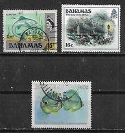 1971-86 Bahamas Peces-historia 3v. Usados - Bahamas (1973-...)
