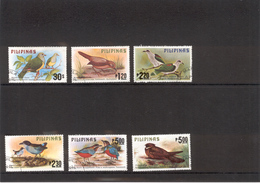PHILIPPINES 1979 Scott No(s). 1392-1397; Birds; Cancelled - Philippines
