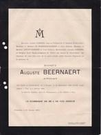 BRUGES BRUGGE PAU BEERNAERT Auguste Avocat 1832-1894 Famille SOENENS DE POORTERE - Obituary Notices